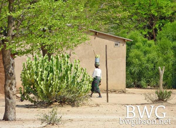 Basket African Woman