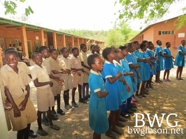 African children singing