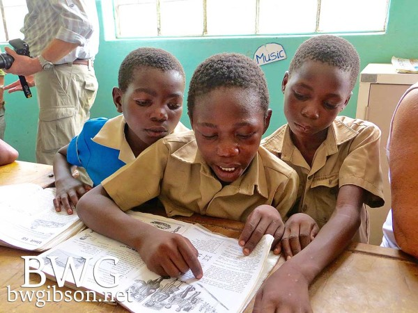 African Student Reading